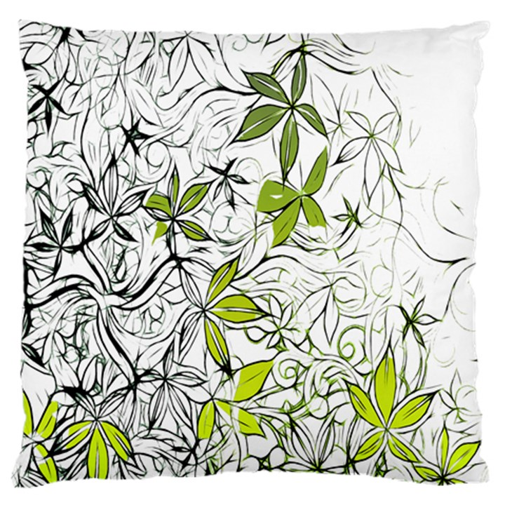 Floral Pattern Background  Large Cushion Case (One Side)