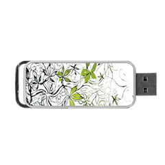 Floral Pattern Background  Portable USB Flash (Two Sides)