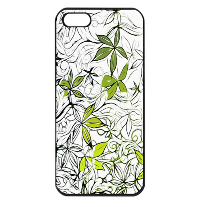 Floral Pattern Background  Apple iPhone 5 Seamless Case (Black)
