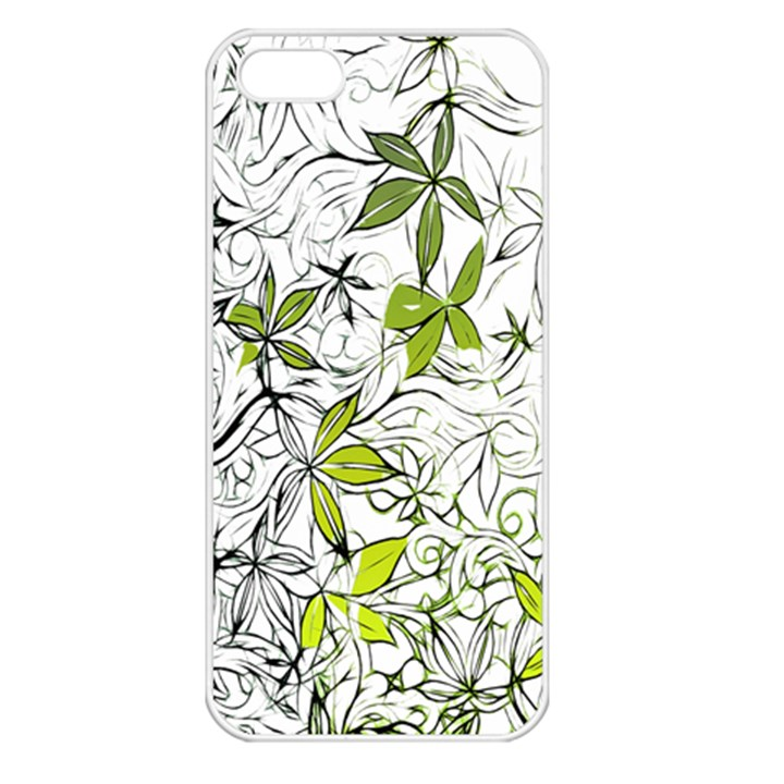 Floral Pattern Background  Apple iPhone 5 Seamless Case (White)