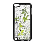Floral Pattern Background  Apple iPod Touch 5 Case (Black) Front