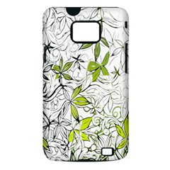 Floral Pattern Background  Samsung Galaxy S II i9100 Hardshell Case (PC+Silicone)