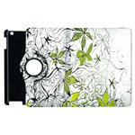 Floral Pattern Background  Apple iPad 2 Flip 360 Case Front
