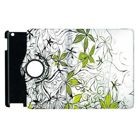 Floral Pattern Background  Apple iPad 3/4 Flip 360 Case