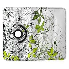 Floral Pattern Background  Samsung Galaxy Note II Flip 360 Case