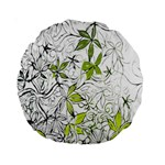 Floral Pattern Background  Standard 15  Premium Round Cushions Back