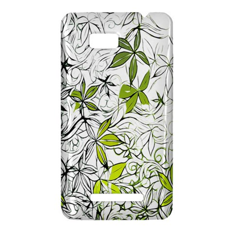 Floral Pattern Background  HTC One SU T528W Hardshell Case