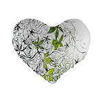 Floral Pattern Background  Standard 16  Premium Heart Shape Cushions Front