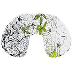 Floral Pattern Background  Travel Neck Pillows Back