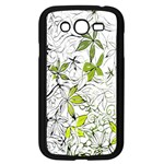 Floral Pattern Background  Samsung Galaxy Grand DUOS I9082 Case (Black) Front
