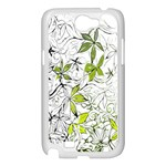 Floral Pattern Background  Samsung Galaxy Note 2 Case (White) Front