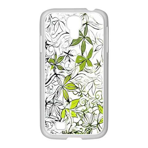 Floral Pattern Background  Samsung GALAXY S4 I9500/ I9505 Case (White)