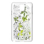 Floral Pattern Background  Samsung Galaxy Note 3 N9005 Case (White) Front
