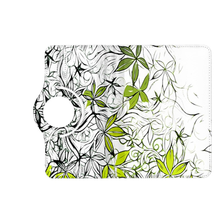 Floral Pattern Background  Kindle Fire HD (2013) Flip 360 Case