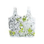 Floral Pattern Background  Full Print Recycle Bags (S)  Back