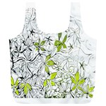 Floral Pattern Background  Full Print Recycle Bags (L)  Front