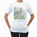 Floral Pattern Background  Women s T-Shirt (White)  Front