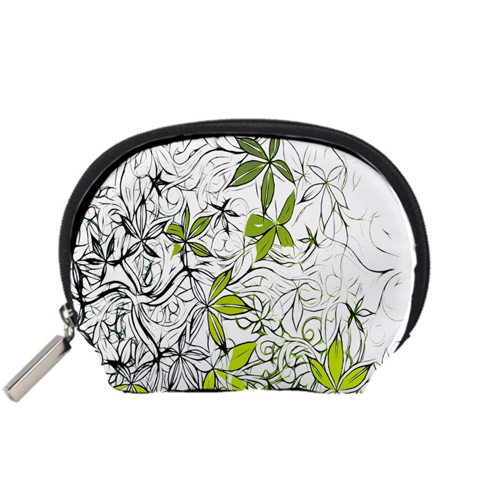 Floral Pattern Background  Accessory Pouches (Small)