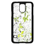 Floral Pattern Background  Samsung Galaxy S5 Case (Black) Front