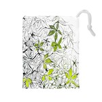 Floral Pattern Background  Drawstring Pouches (Large)  Front