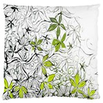 Floral Pattern Background  Large Flano Cushion Case (Two Sides) Back