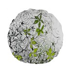 Floral Pattern Background  Standard 15  Premium Flano Round Cushions Front