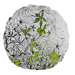 Floral Pattern Background  Large 18  Premium Flano Round Cushions Front