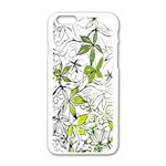 Floral Pattern Background  Apple iPhone 6/6S White Enamel Case Front