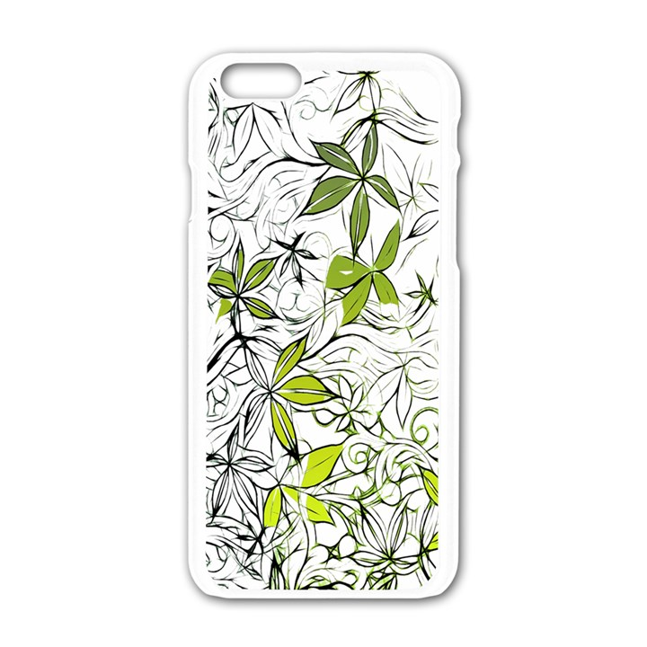 Floral Pattern Background  Apple iPhone 6/6S White Enamel Case