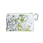 Floral Pattern Background  Canvas Cosmetic Bag (S) Back