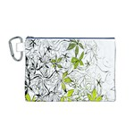 Floral Pattern Background  Canvas Cosmetic Bag (M) Front