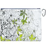 Floral Pattern Background  Canvas Cosmetic Bag (XXXL) Back