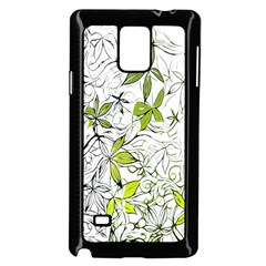 Floral Pattern Background  Samsung Galaxy Note 4 Case (Black)