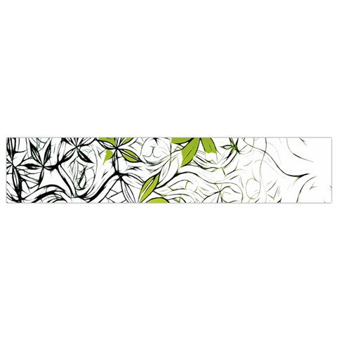 Floral Pattern Background  Flano Scarf (Small)