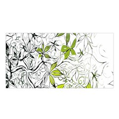 Floral Pattern Background  Satin Shawl