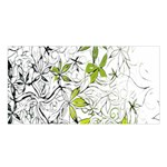 Floral Pattern Background  Satin Shawl Front