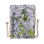 Floral Pattern Background  Drawstring Bag (Small) Back