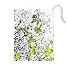 Floral Pattern Background  Drawstring Pouches (Extra Large)