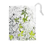 Floral Pattern Background  Drawstring Pouches (Extra Large) Front