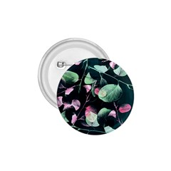 Modern Green And Pink Leaves 1 75  Buttons