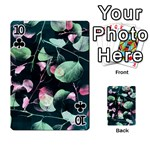 Modern Green And Pink Leaves Playing Cards 54 Designs  Front - Club10