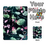 Modern Green And Pink Leaves Playing Cards 54 Designs  Front - ClubK