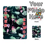 Modern Green And Pink Leaves Playing Cards 54 Designs  Front - Joker2