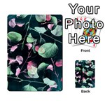 Modern Green And Pink Leaves Playing Cards 54 Designs  Back