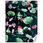 Modern Green And Pink Leaves Canvas 18  x 24   24 x18 Canvas - 1