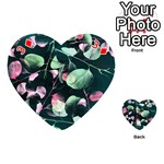 Modern Green And Pink Leaves Playing Cards 54 (Heart)  Front - Diamond3
