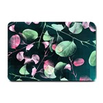 Modern Green And Pink Leaves Small Doormat  24 x16 Door Mat - 1