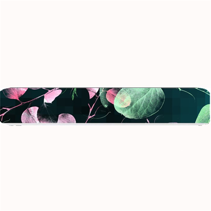 Modern Green And Pink Leaves Small Bar Mats
