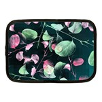 Modern Green And Pink Leaves Netbook Case (Medium)  Front