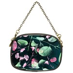 Modern Green And Pink Leaves Chain Purses (Two Sides)  Back